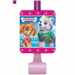 PAW PATROL Birthday Party Supplies  PINK BLOWOUT FAVOR TOYS