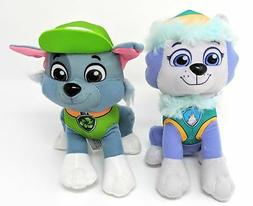 "Paw Patrol 2 Pcs Character Plush Set Everest & Rocky 8"" Plus"