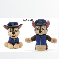 "Paw Patrol CHASE, 9"" & CHASE HAND PUPPET, 11"""