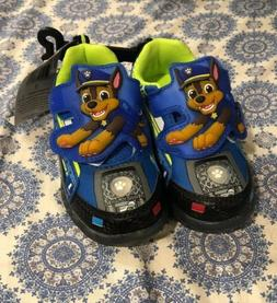 PAW PATROL CHASE Boys Light-Up Sneakers Athletic Shoes Sz.