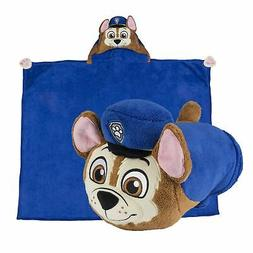 PAW PATROL Chase PILLOW AND BLANKET 1pc Boys Girls Nap Trave
