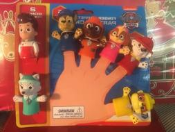 Paw Patrol Finger Puppets Bath Toy Party Pk 7 With Bonus Pup