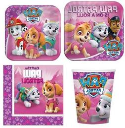 Paw Patrol Girl Party Supplies Express Pack for 8 Guests