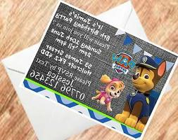 Paw Patrol Invites Party Invitations for Girls and Boys 250G