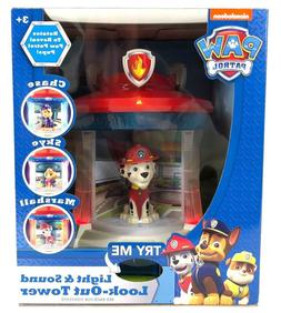 Paw Patrol Light & Sound Look-Out Tower Chase Skye Marshall