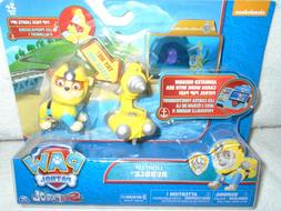 "Nickelodeon Paw Patrol Light UP Rubble with Pup Pack ""NEW"" M"