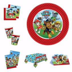Paw Patrol Party Kit Plates Napkins Cups Party Bag Tablecove