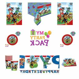 PAW PATROL PARTY SUPPLIES! CUPS PLATES TABLECLOTH NAPKINS IN