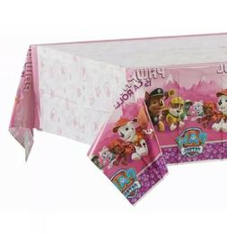Paw Patrol Pink Table Cover Party Supply Plastic Tablecloth