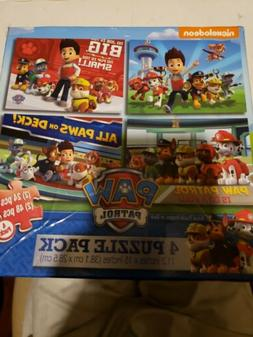 Cardinal Industries Paw Patrol 4Pack of Puzzles, New