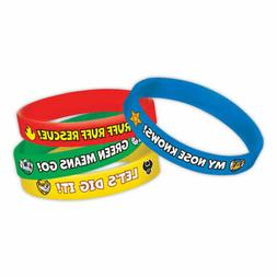Paw Patrol Rubber Bracelets Pack of 6 by AMSCAN