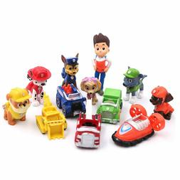 Paw Patrol Ryder 6 Pups 5 Vehicles Action Figure 12 pcs Cake