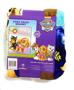 """Paw Patrol Silky Soft Throw with Skye and Chase 40"""" x 50"""""""