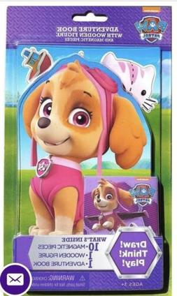 Paw Patrol Skye Wooden Magnetic Doll And Adventure Book NIP