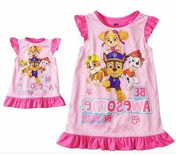 Paw Patrol Toddler Girls Nightgown with Matching Doll Gown N