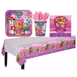 Pink PAW Patrol Girl Tableware Birthday Party Supply Cup Pla