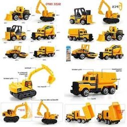 Play Vehicles 6 Set Toy Construction Assorted Trucks Mini Ca