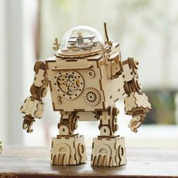 ROKR Robot Model Building Kits Wooden Music Box Toy Gift for