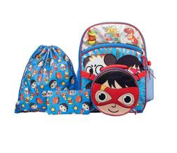 Ryan's World 5-Piece Backpack Set, Paw Patrol, and Super Mar