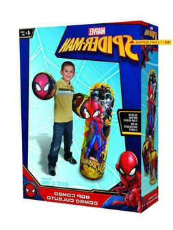 Hedstrom Spider-Man Bop Combo Inflatable Punching Bags And G