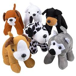 Bedwina Plush Puppy Dogs -  6 Inches Tall Stuffed Animals Bu