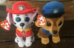 Ty The Beanie Boos Collection Paw Patrol - Marshall And Chas