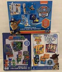 Toy Story, Paw Patrol & PJ Masks 4-in-1 Games NEW lot of 3