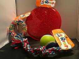 Tug and Fetch toys for a Medium size dog - lot of 4 toyss