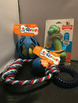 Tug, Fetch, and Chew toys for a Medium size dog - lot of 4 t